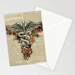 herme doctor symbol Stationery Cards
