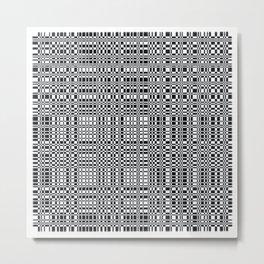 digicode plaid white Metal Print