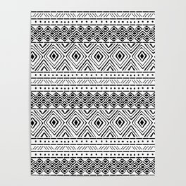 African Mud Cloth Poster