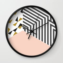 Pink&Gold Room #society6 #decor #buyart Wall Clock