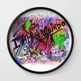 Metaphysical Penguin I AM A WEIRDO Wall Clock