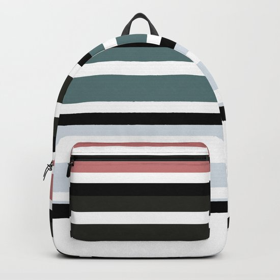 Simple colorful striped pattern . 3 Backpack