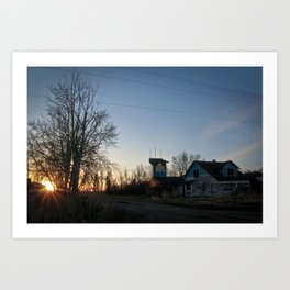 The sun setting on an era Art Print