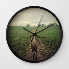 The Lonesome Traveller Wall Clock