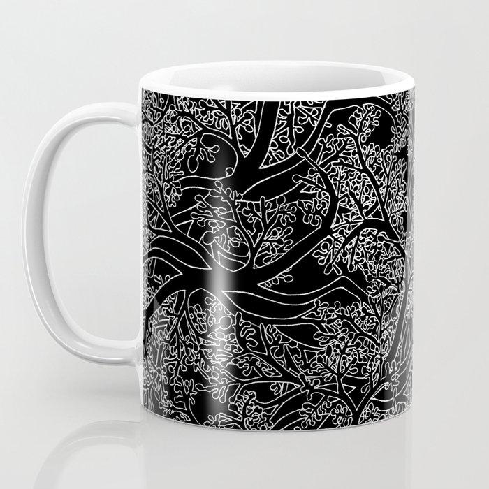 Tree Repeat Black Coffee Mug
