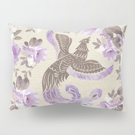 Phoenix Bird with watercolor flowers Pillow Sham