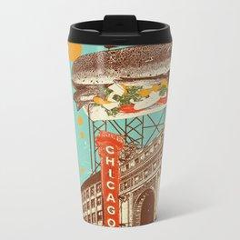 CHICAGO RED HOT Metal Travel Mug