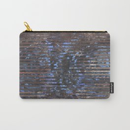 Abstract blue and brown Carry-All Pouch