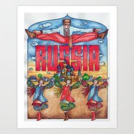Russia: The Cossack Dance Art Print