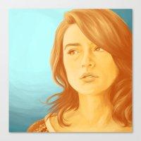 allison argent Canvas Prints featuring Allison Argent, Color Palette #34 by andavs