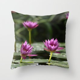 These Lilies Wear Pink Throw Pillow