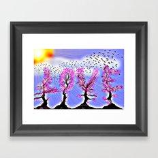 AS LOVE BLOSSOMS - 051 Framed Art Print