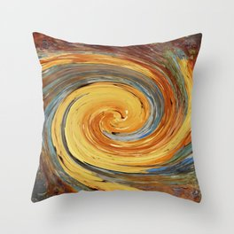 Swirl 03 - Colors of Rust / RostArt Throw Pillow
