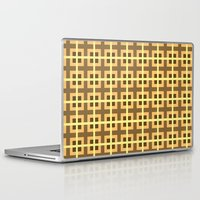 yellow pattern Laptop & iPad Skins featuring Pattern Yellow by BobbyK