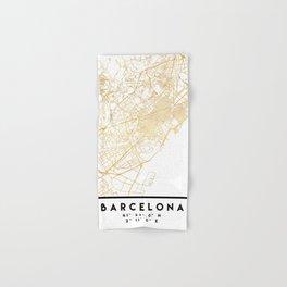 BARCELONA SPAIN CITY STREET MAP ART Hand & Bath Towel