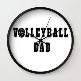 Volleyball Dad Quote Wall Clock