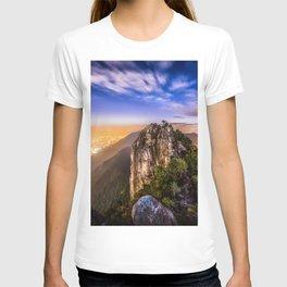 Hong Kong City Night view from Lion Rock hilltop T-shirt