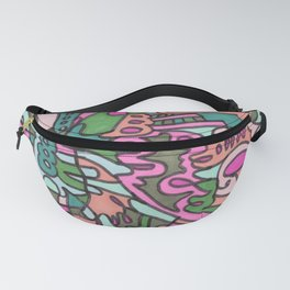 I Found my Friends (Pink/Green) Fanny Pack