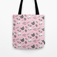 loll3 Tote Bags featuring I Put a Spell on You (2nd version) by lOll3