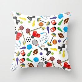 Children's Sport Pattern Throw Pillow