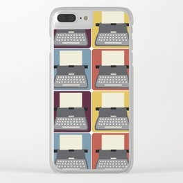 Typewriter v9056 Clear iPhone Case