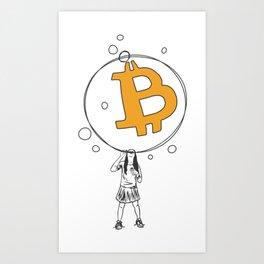 Bitcoin Bubble Art Print