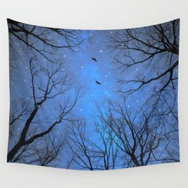 A Certain Darkness Is Needed (Night Trees Silhouette) Wall Tapestry