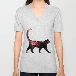 Abstract Cat Unisex V-Neck