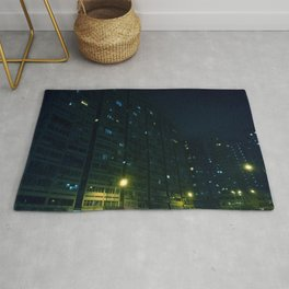 2019 Kowloon City Night View, Hong Kong Rug
