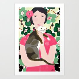 Cherry Blossom Girl Art Print