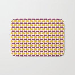 CVPA20019 Boysenberry Purple and Poppy Yellow Dots Bath Mat