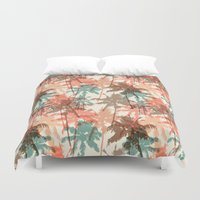 palm trees Duvet Covers featuring Palm trees by Julia