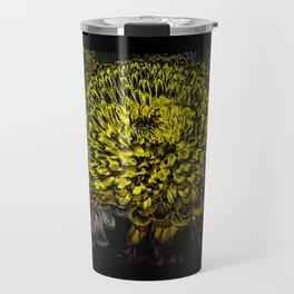 Black yellow art Travel Mug