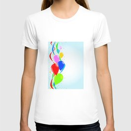 Balloons and Confetti Party T-shirt