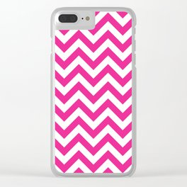 Chevron pattern / deep pink Clear iPhone Case