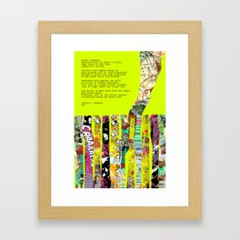 Jx3 Poem - 3 Framed Art Print