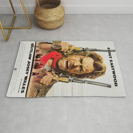 Clint Eastwood The Outlaw Josey Wales Movie Poster Classic Western Rug