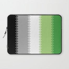 pixel pride- aromantic pride flag Laptop Sleeve