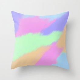 Watercolor pastel Throw Pillow