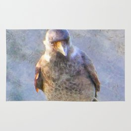 Jackdaw Watercolor Rug