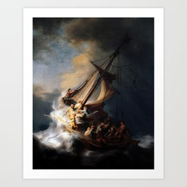 The Storm on the Sea of Galilee by Rembrandt Art Print