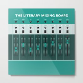 The Literary Mixing Board Metal Print