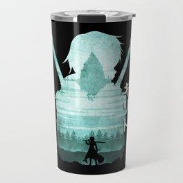 Minimalist Silhouette Kirito Travel Mug