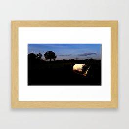 Sunset on Moody Bridge Road Framed Art Print