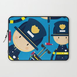 Cute Cartoon Fireman Pattern Laptop Sleeve