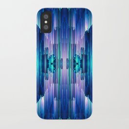 Cavernous Glitch - Abstract Pixel Art iPhone Case