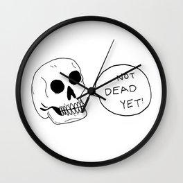 Positive Skeleton Wall Clock
