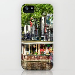 Amsterdam Houseboat on Canal iPhone Case