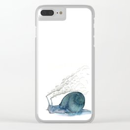 Escargot fumant Clear iPhone Case