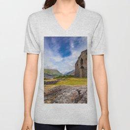 Dolbadarn Castle Unisex V-Neck